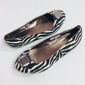 GAP Womens Shoes Sz 5 Ballet Flats Zebra Textile